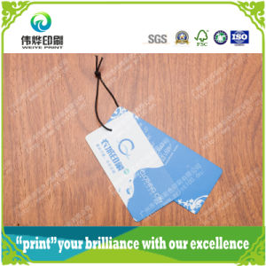 High Quality Customized Logo Paper Printing Hang Tag for Garment pictures & photos