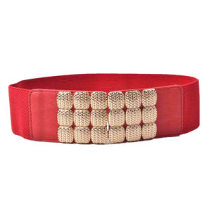 Wholesale Fashion Ladies Wide Elastic Belts with Metal Stud pictures & photos