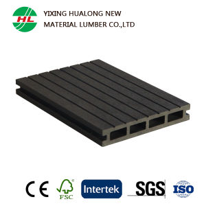 Wood Plastic Composite Hollow Decking for Outdoor Use (HLM167) pictures & photos