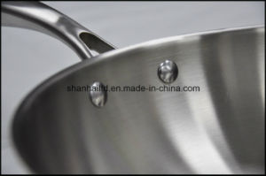 Cookware Traditional Wok 3 Ply Chinese Wok pictures & photos