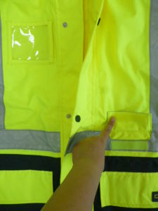 Hi Visibility Polyester Oxford 6 in 1 Jacket with Reflective Tape pictures & photos