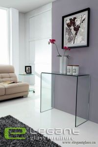 12mm Clear Glass Console Table Glass Furniture pictures & photos