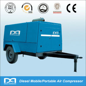 Movable Diesel Engine Driven Portable Diesel Air Compressor Screw pictures & photos
