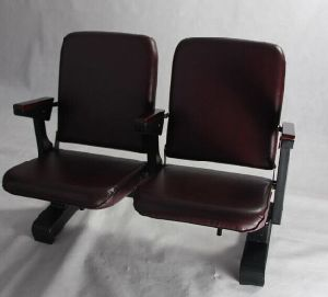 Patented Movable Public Auditorium Chair with Folding Seat