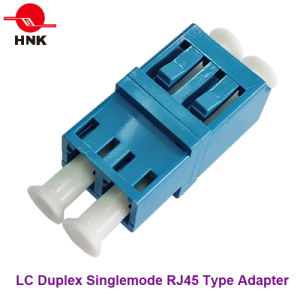 LC Duplex Singlemode/APC Multimode/Om3/Om4 RJ45 Type Fiber Optic Adapter pictures & photos