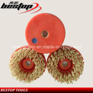 D100mm Antique Abrasive Nylon Brushes for Granite and Marble pictures & photos