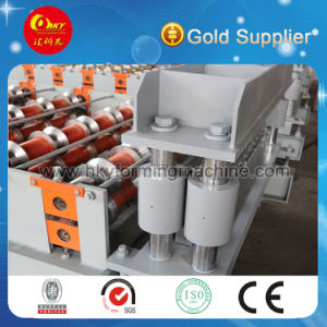 C10 Colored Steel Roof Cladding Roll Forming Machine pictures & photos