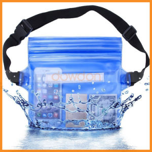 Multifunctional Three Layer Opening Mouth Waterproof Waist Pouch for Swimming pictures & photos