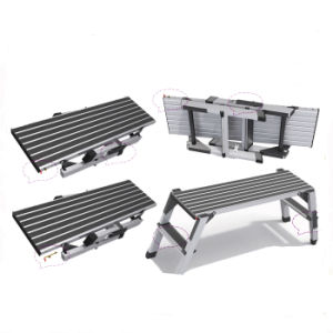 Two Step Aluminum Scaffold Ladder for Foot Stool Jk-205 pictures & photos