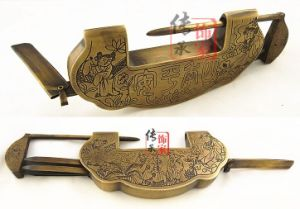 Padlock with Chinese Antique Style, Ingot Shaped Padlock pictures & photos