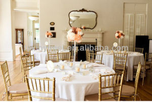 Foshan Stacking Aluminum Gold Banquet Chiavari Chair pictures & photos