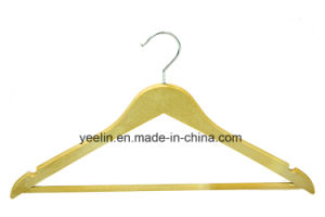 Yeelin Garment Usage Clothing Type Wood-Like Clothes Hanger (YLWD-c6) pictures & photos