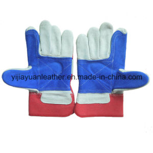 Cow Split Leather Cut Resistant Riggers Working Gloves pictures & photos