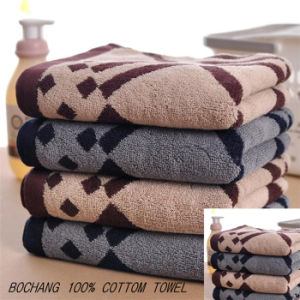 Customized Color Full Size Jacquard 100% Cotton Bath Towel