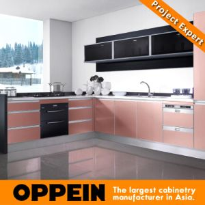 Oppein Fashion Red Brass UV Paint Kitchen Cabinets (OP11-X159) pictures & photos