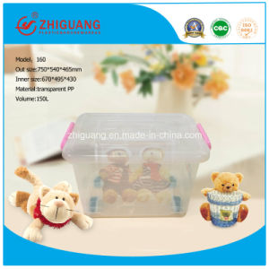 High Quality Household Products 130L Heavy Duty Clear Plastic Storage Box pictures & photos