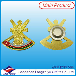 Gold Finished Custom Shape Military Badge pictures & photos