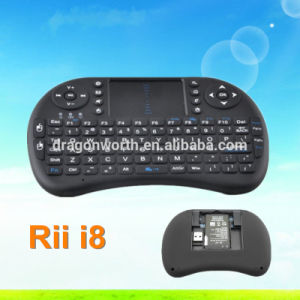 2.4GHz Wireless Rii Mini I8 Wireless Keyboard Air Mouse with Touchpad for PC Pad Google Andriod TV Box pictures & photos