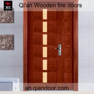 Sapele Veneer Composite Wooden Fireproof Door pictures & photos