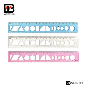 20cm Drawing Shape Sorter Plastic Ruler for Office Stationery pictures & photos