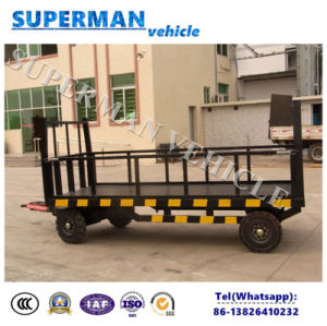 5t Utility Flatbed Luggage Transport Cargo Drawbar Trailer pictures & photos