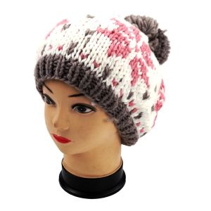 Jacquard Hand Knit Hat with POM POM, Knitted Beanie pictures & photos