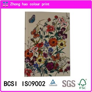 Flower Hardcover Notebook with Avon Certificati/Composition Book/Office Notebook/Stationery Notebook (150524001)
