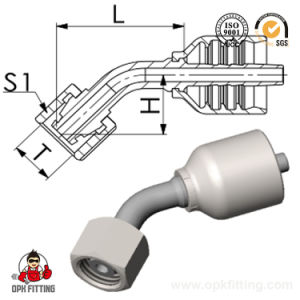 45° Metric Male 24° Cone Seat One Piece Fitting (20541y) pictures & photos