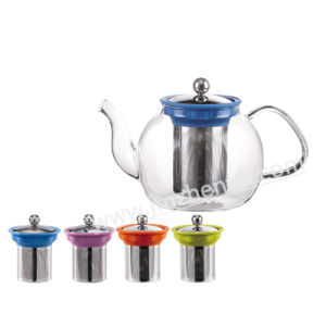 Pyrex Glass Infusion Teapot/Transparent and Light Glass Teapot with Stainless Infuser pictures & photos