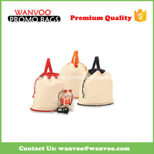 Promotional Recycle Travel Sport Cotton Canvas Drawstring Backpack pictures & photos