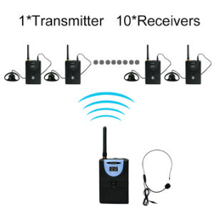 Professional Tp-Wireless Tour Guide System (1 transmitter and 10 receivers) pictures & photos