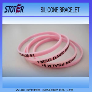 Colorful Cheap Logo Silicone Wristband pictures & photos