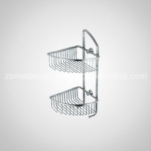Bathroom Wall Corner Mounted Stainless Steel Shower Shelf (CJ002) pictures & photos