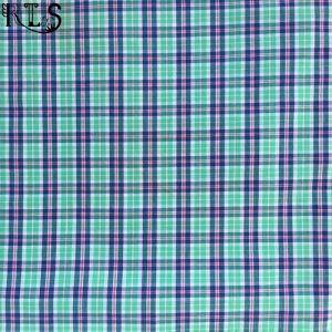100% Cotton Poplin Yarn Dyed Fabric Rlsc50-13