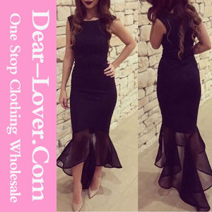 Fashion Black Long Evening Party Cocktail Dress pictures & photos