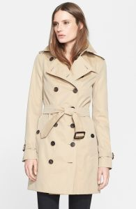 Double-Breasted Slim Women Trench Coat pictures & photos