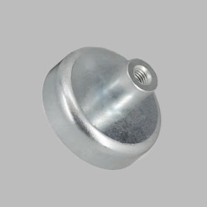 Plating Zinc Round Base Magnet Pot with Inner Thread Rod pictures & photos