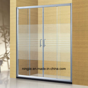 Hotel Bathroom Shower Aluminum Shower Screen (A-898) pictures & photos