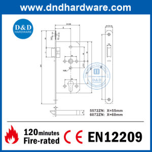 Door Hardware Night Latch with Fire-Rated Certificated (DDML6072NL) pictures & photos