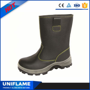 Leather High Cut Men Steel Toe PU Sole Work Shoes Safety Boots pictures & photos