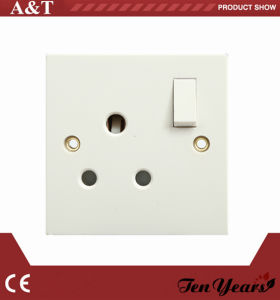 15A 1 Gang 3 Pin Round Switch Socket
