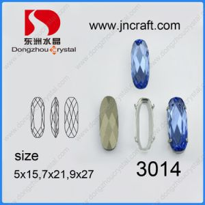 Crystal Oval Glass Fancy Loose Stone Jewelry Finding Beads (DZ-3014) pictures & photos
