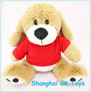 Logo Customized Plush Dog School Mascot Plush Toy pictures & photos