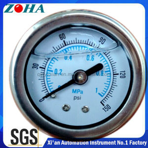Flange Type Back Connection Stainless Steel Manometer with Double Scale pictures & photos