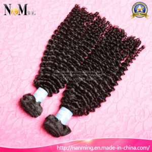 Instock Grade 6A 1b# Unprocessed Indian Virgin Hair 100g/PCS Afro Kinky Curly Indian Human Hair pictures & photos