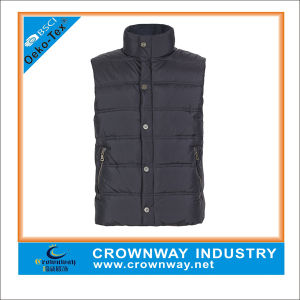 Mens Fashion Plaid Sleeveless Winter Quilted Jacket pictures & photos