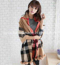 Square Style Printed Wool Scarf pictures & photos