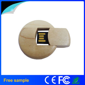 Free Sample Natural Wood Circle Card Pendrive USB Stick pictures & photos