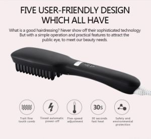 Low Price Hair Brush Korea Design LCD Display Hair Straightener Brush Iron Hair Straightener Comb/Brush