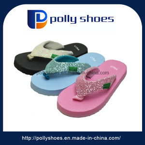 Wholesale High Quality Casual Red Sole Children Fancy Slippers pictures & photos